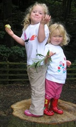 Arabella Miller Organic Certified t-shirts modelled on two children