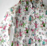 Gardening Girl Print Raincoat