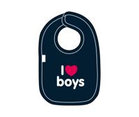 i love boys bib from snuglo