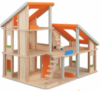 Plan Toys Chalet Dolls House with Furniture