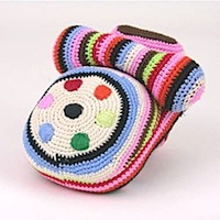 Anne- Claire Petit Hand Knitted Stripey Telephone