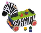 Big Jigs Shape Sorter Zebra Ride