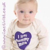 'I Love Mummy Milk' Organic Long-Sleeved T-shirt