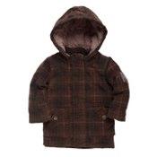 Khaki check duffle coat by Rocha Little Rocha