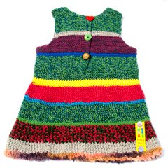 Raisa Hand Crocheted Pinafore Dress by Teeny Tini