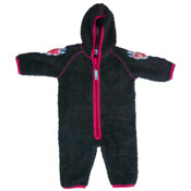 Gry Charcoal Fleece Babysuit