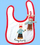 Pirate bib and nappy bag charm
