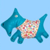 retro scotty fabric dog