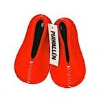 pia wallen red felt slippers