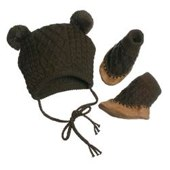 Hat & Bootie Set by Egg by Susan Lazar