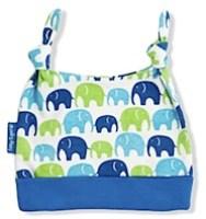 Blue/Green Elephants Organic Baby Hat