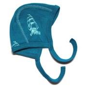ej sikke lej petrol blue hat with ship print - Tootsie and Fudge.jpg