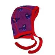 ej sikke lej purple baby hat with bird print