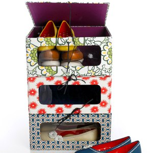 Patterned Shoe Boxes
