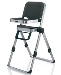 concord spin highchair black
