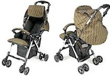 ZUCCA BLACK STROLLER BY APRICA FOR FENDI