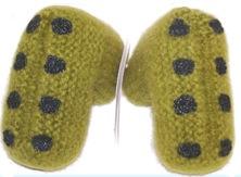 babytex hand knitted baby booties