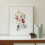 Numbers Poster by Binth
