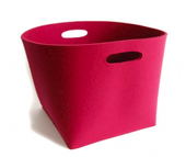 parkhaus storage basket in hot pink from little baby company