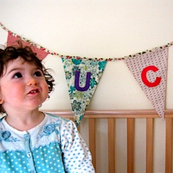 Baby's Bunting from Recycled and Vintage Fabrics