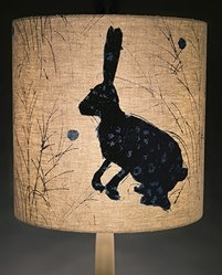 helen minns large cylinder rabbit lampshade