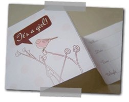 it's a girl card by lollipop design