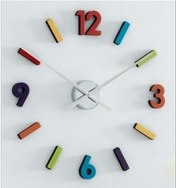Colour Stickers Numbers Wall Clock by Next