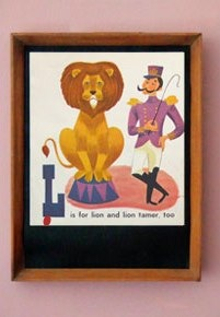 L is for a lion and his tamer
