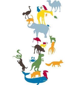 KidsLAB Animal Tower Sticker