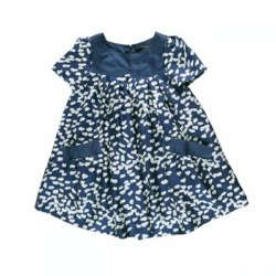 DALLAS Heart print silk dress by LITTLE MARC JACOBS