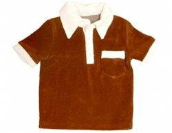 Brown Short Sleeve Terry Towelling Shirt by Moonkids