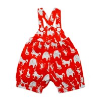 Plastisock Red Circus Woven Cotton Brace Shorts