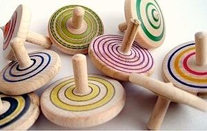 handmade spinning tops