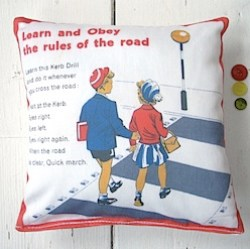 Stop. Look. Listen! Mini pillow