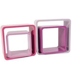 Pink Shades Square Shelving by sebra