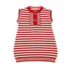 Lille Barn Organic Cotton Knit Red Stripe Dress