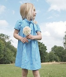 Gingham Dress with Bow by Hucklebones