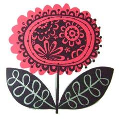 rosa screenprint by ruth green designs