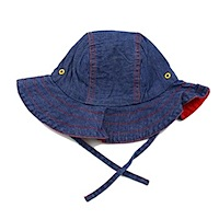 ej sikke lej Dark Denim Summer Hat Girls