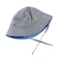 ej sikke lej Boys Black Striped Chambray Summer Hat