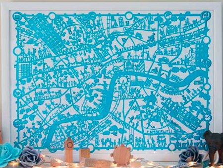 London Paper Cut Map by Famille Summerbelle
