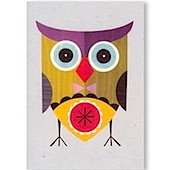 Owl Recycled Greeting Card
