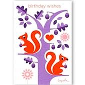 Red Squirrel Birthday Wishes