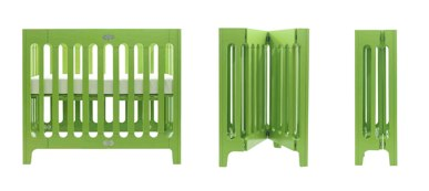 alma urban cot from bloom in green