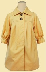 Summer Cotton Shrunken Sleeve Coat by Hucklebones
