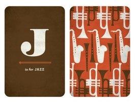 J is for Jazz - 8.5 x 11 Alphabet Art Print