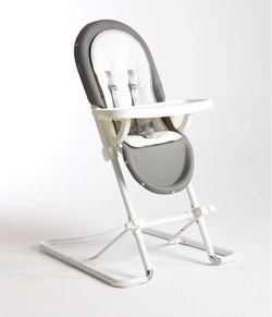 zoobie white and grey spoon highchair