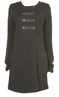 Maternity Military Knit Coat topshop