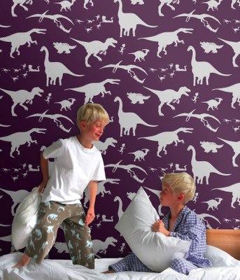 paperboy wallpaper dinosaurs