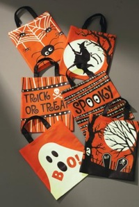 Set of Three Assorted Glow in the dark Halloween Bags